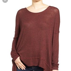 Free People oversize Hacci open back sweater